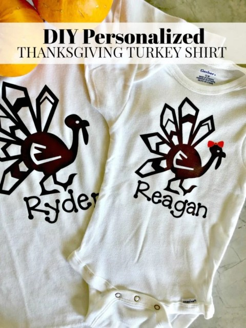DIY Personalized Thanksgiving Turkey Shirt