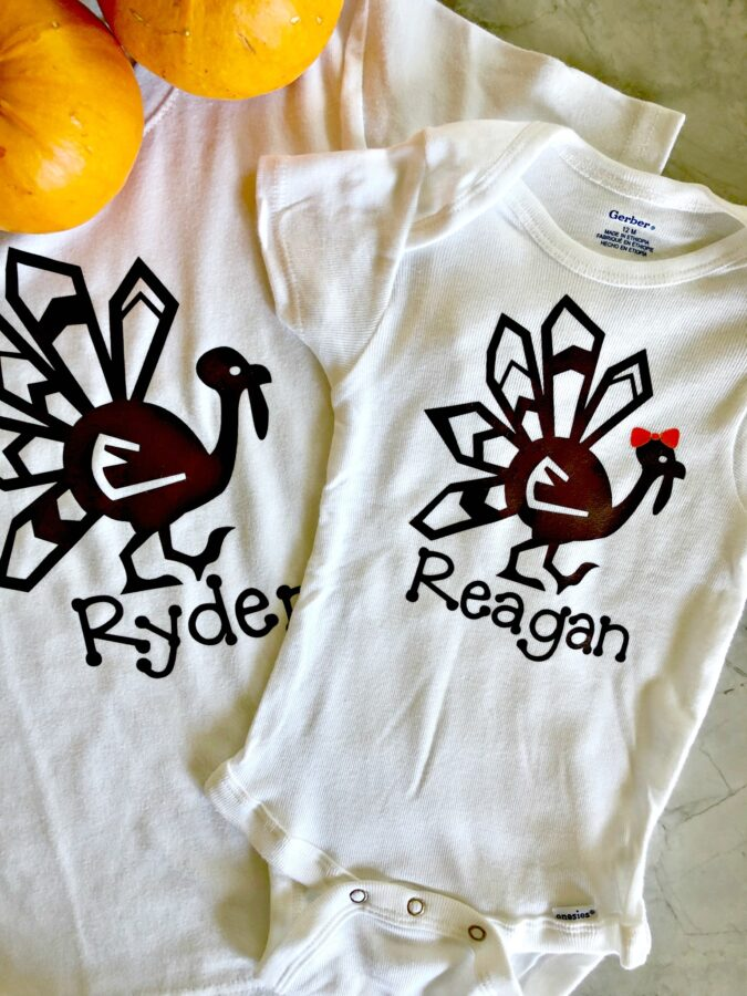 DIY Personalized Thanksgiving Turkey Shirt Photo