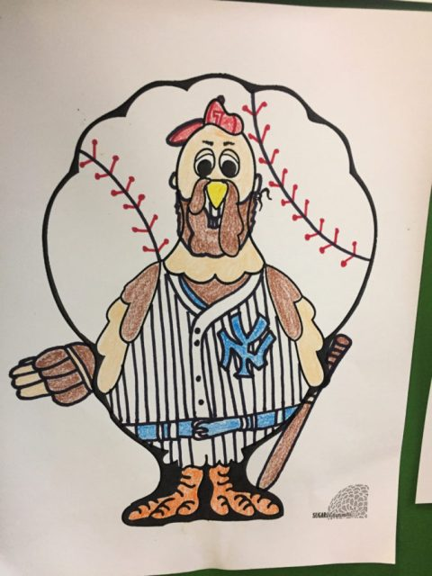 Turkey In Disguise Baseball Player