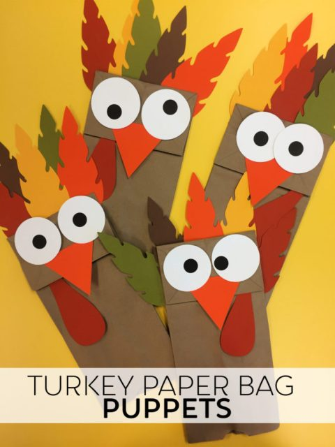 Turkey Paper Bag Puppets