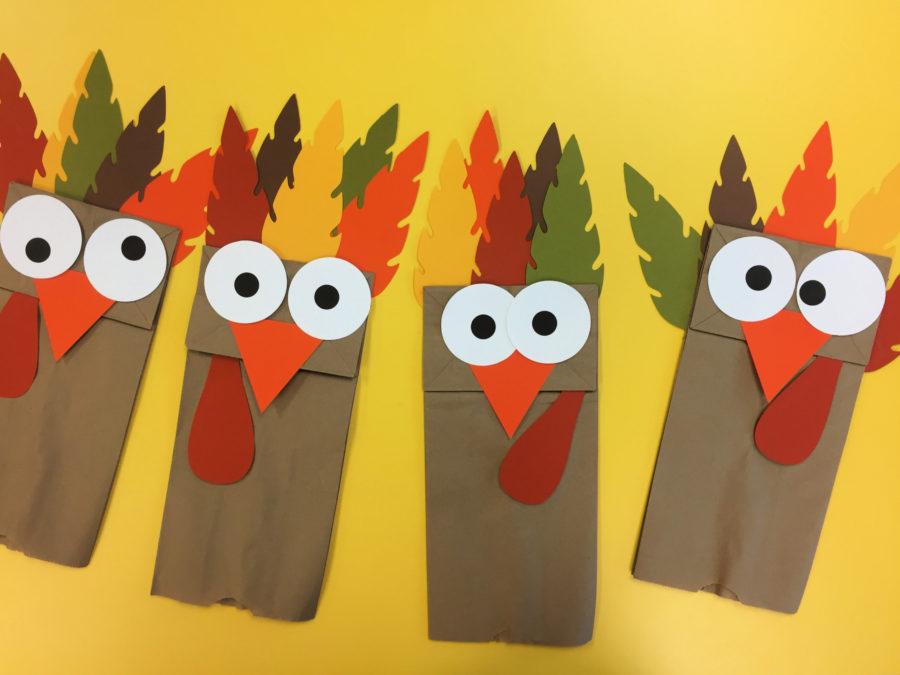 Turkey Paper Bag Puppets Craft Activity
