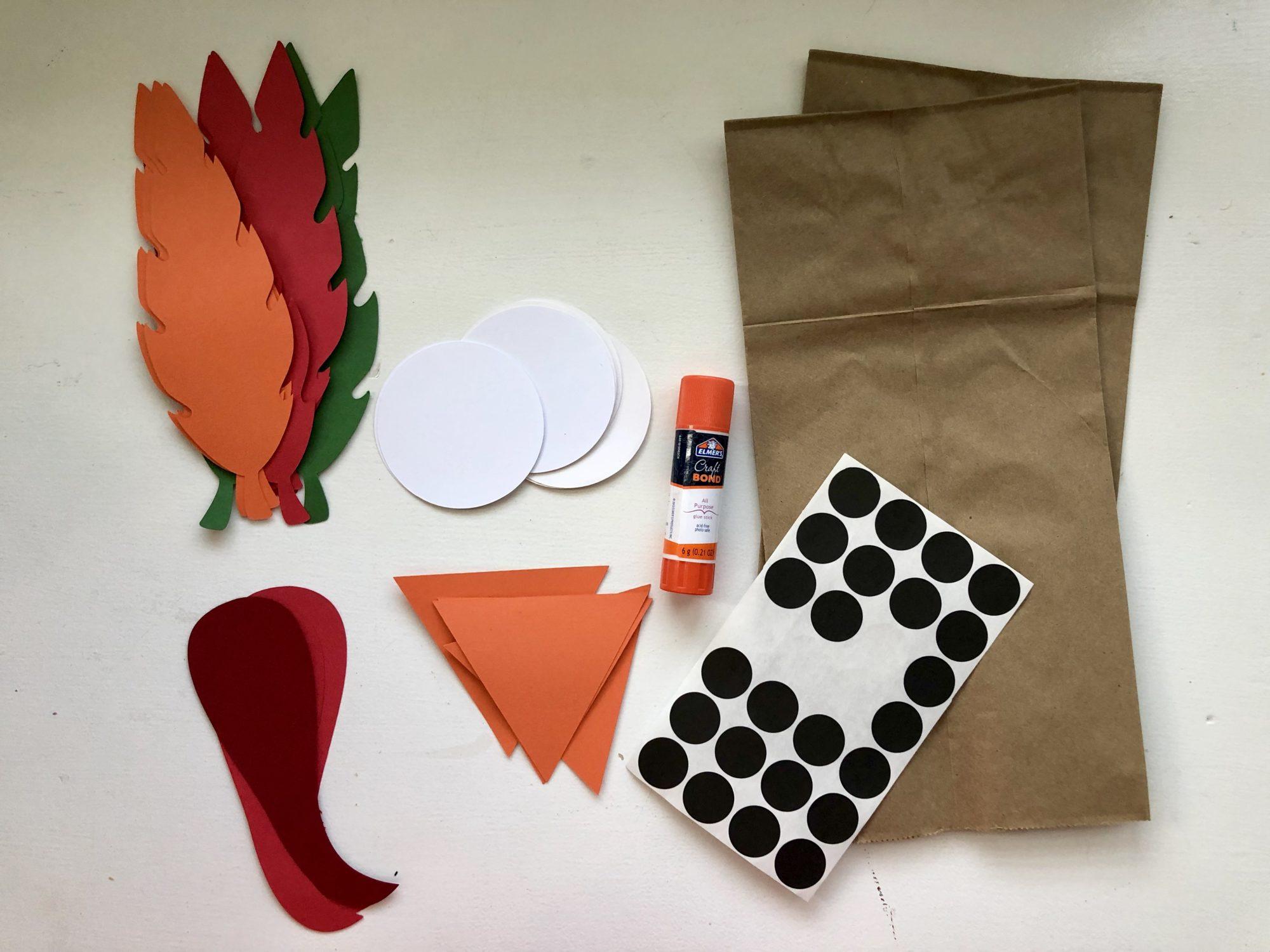 Turkey Paper Bag Puppets Supplies
