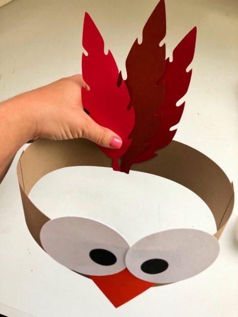 Turkey Paper Headbands -Attach Feathers