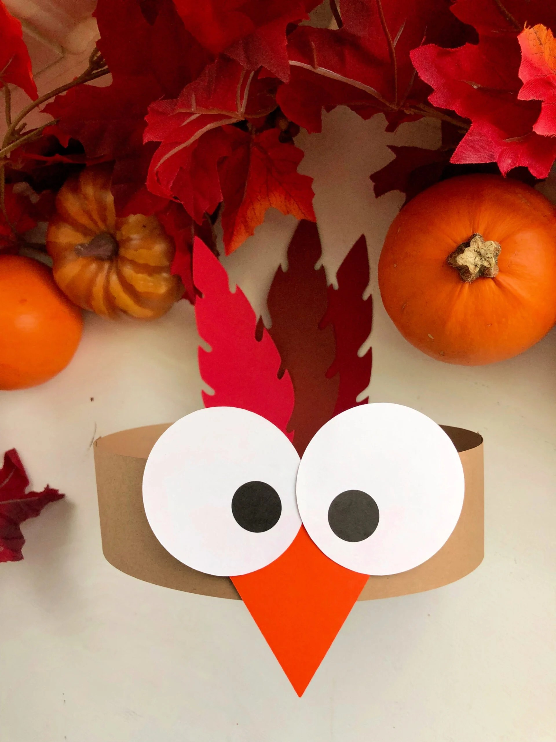 Turkey Paper Headbands Made with Cricut