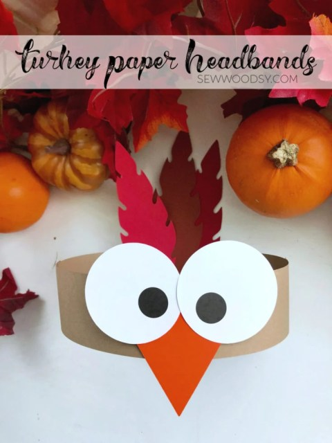 Turkey Paper Headbands made in under 15 minutes time!