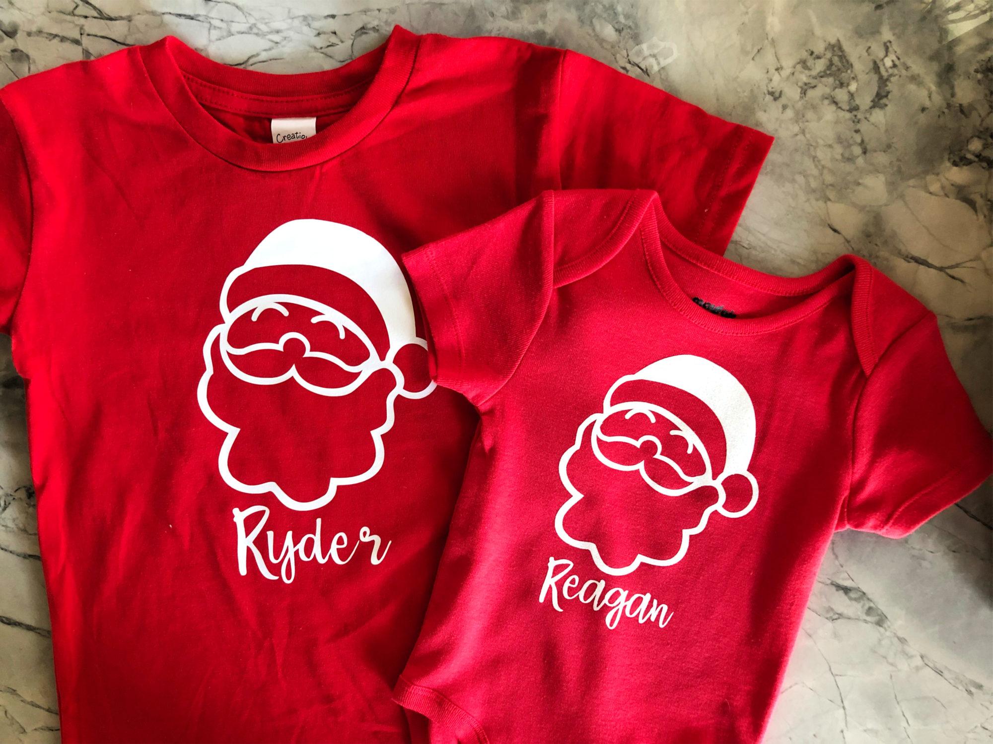DIY Personalized Santa T-Shirt