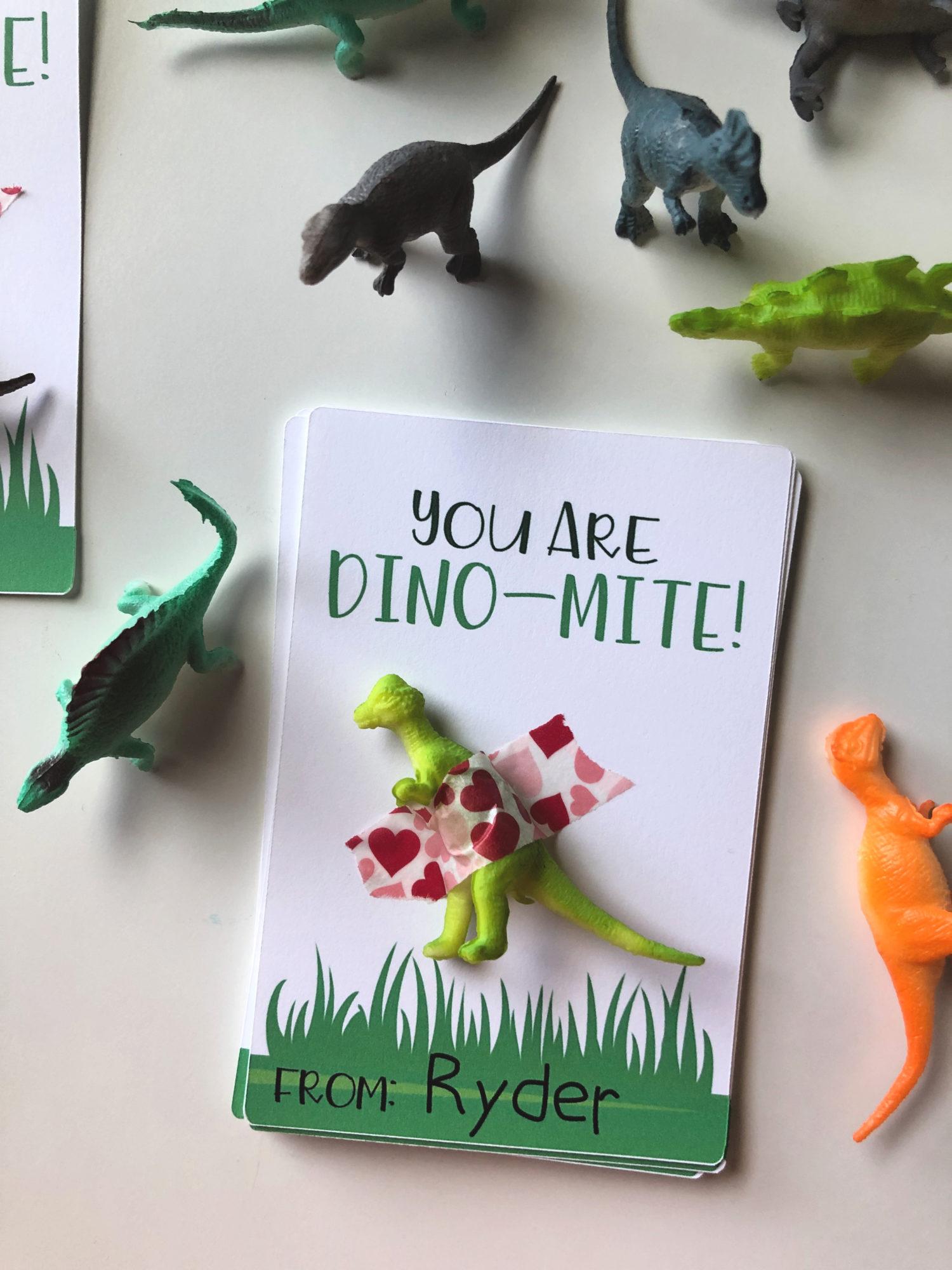 DIY You Are Dino-Mite Valentine