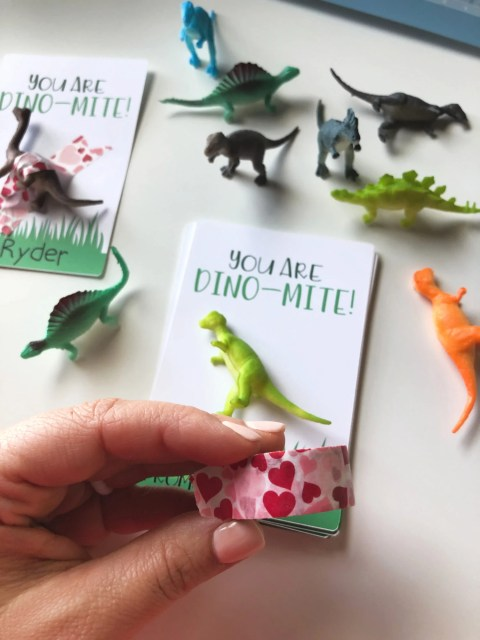 Dino-Mite Valentine with Washi Tape