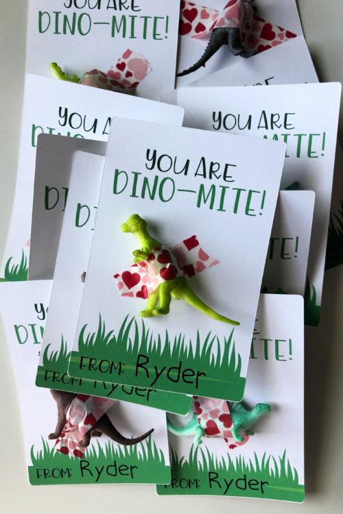 You Are Dino-Mite Kids DIY Valentine