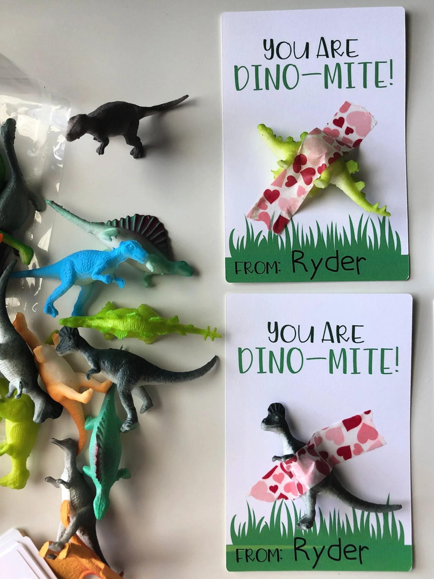 """You Are Dino-Mite!"" DIY Valentine"