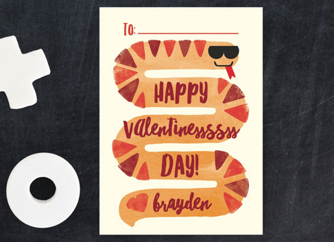 Cool Snake Valentine from Minted