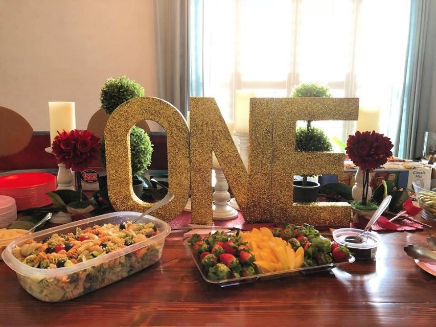 """DIY Glittered """"ONE"""" Letters"""