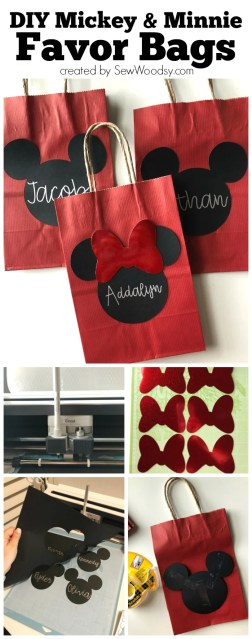 DIY Mickey & Minnie Mouse Favor Bags
