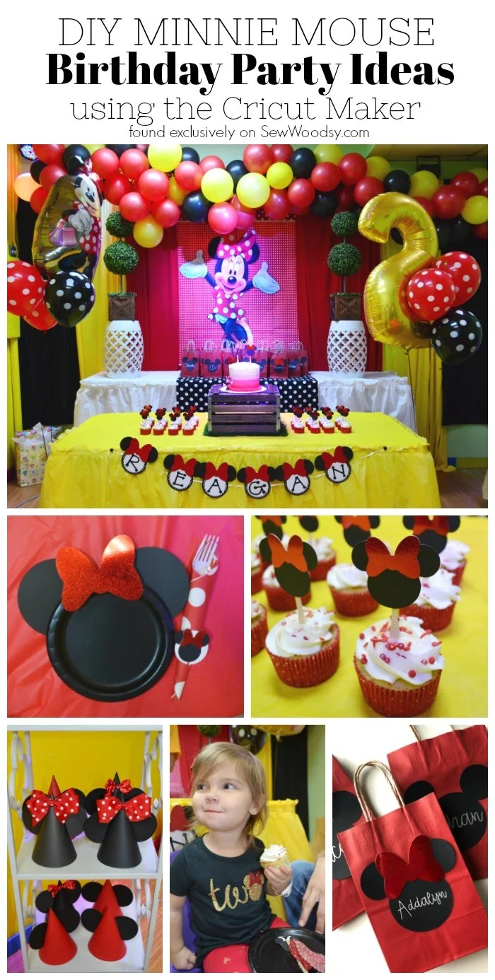 Excellent Diy Minnie Mouse Birthday Party Ideas Sew Woodsy Funny Birthday Cards Online Alyptdamsfinfo