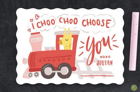 I Choo choo choose you Valentine