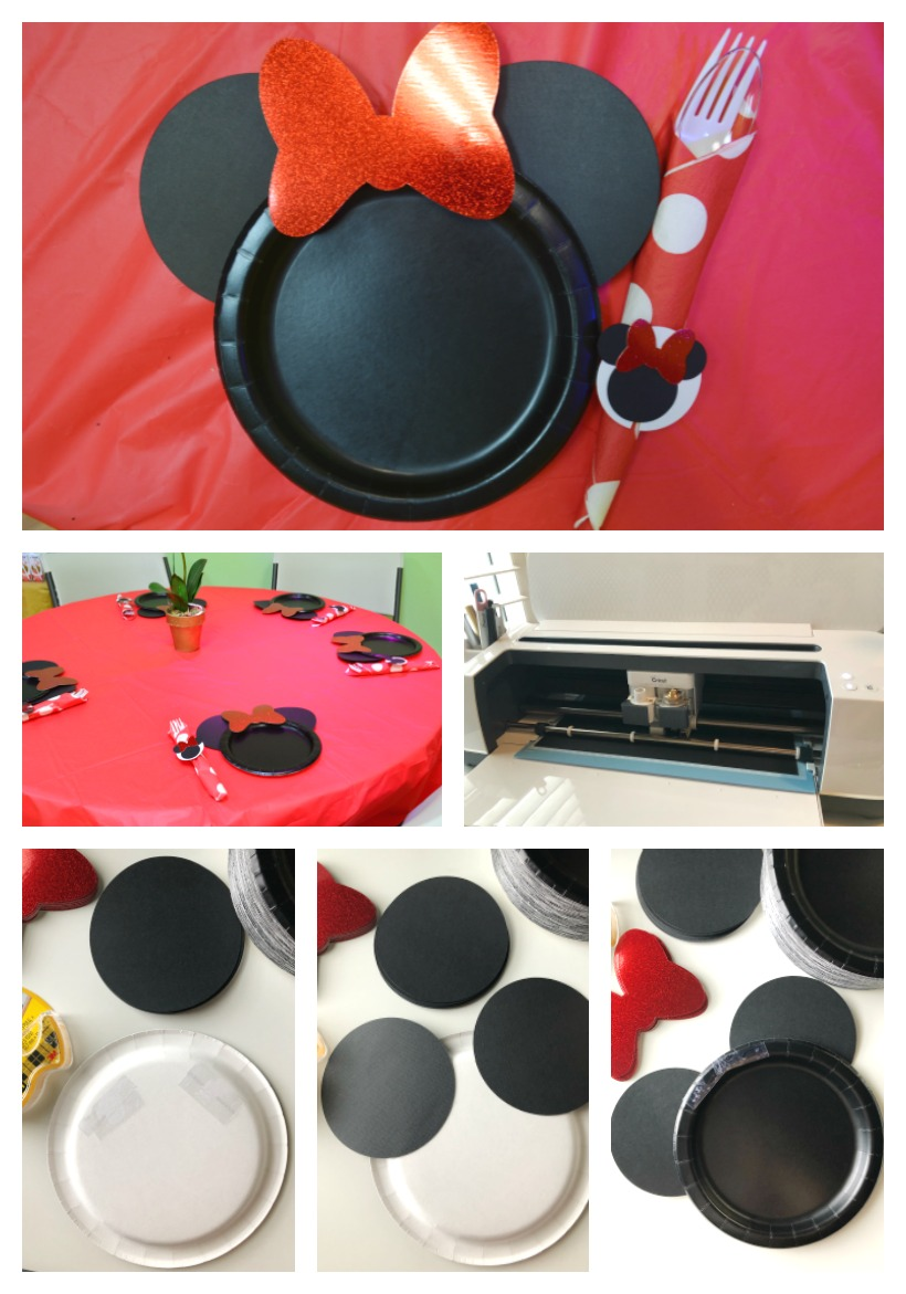 Minnie Mouse DIY Paper Plates