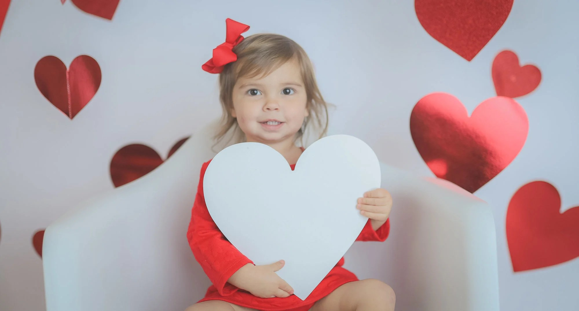 Valentines Day Toddler Heart Photo