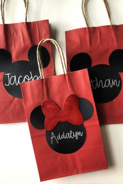 DIY Mickey & Minnie Favor Bags