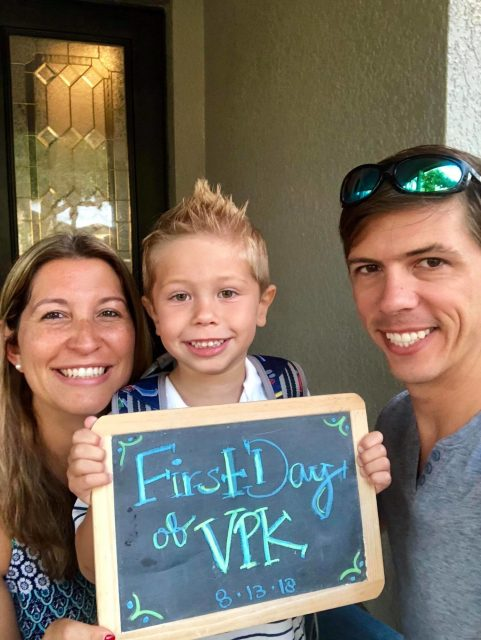 First Day of VPK with Parents