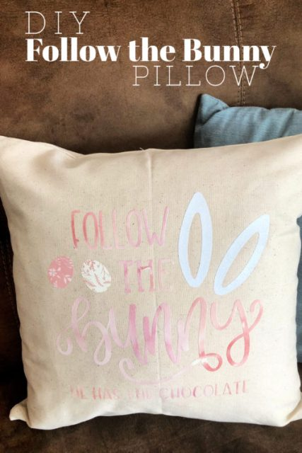 DIY Follow the Bunny Pillow