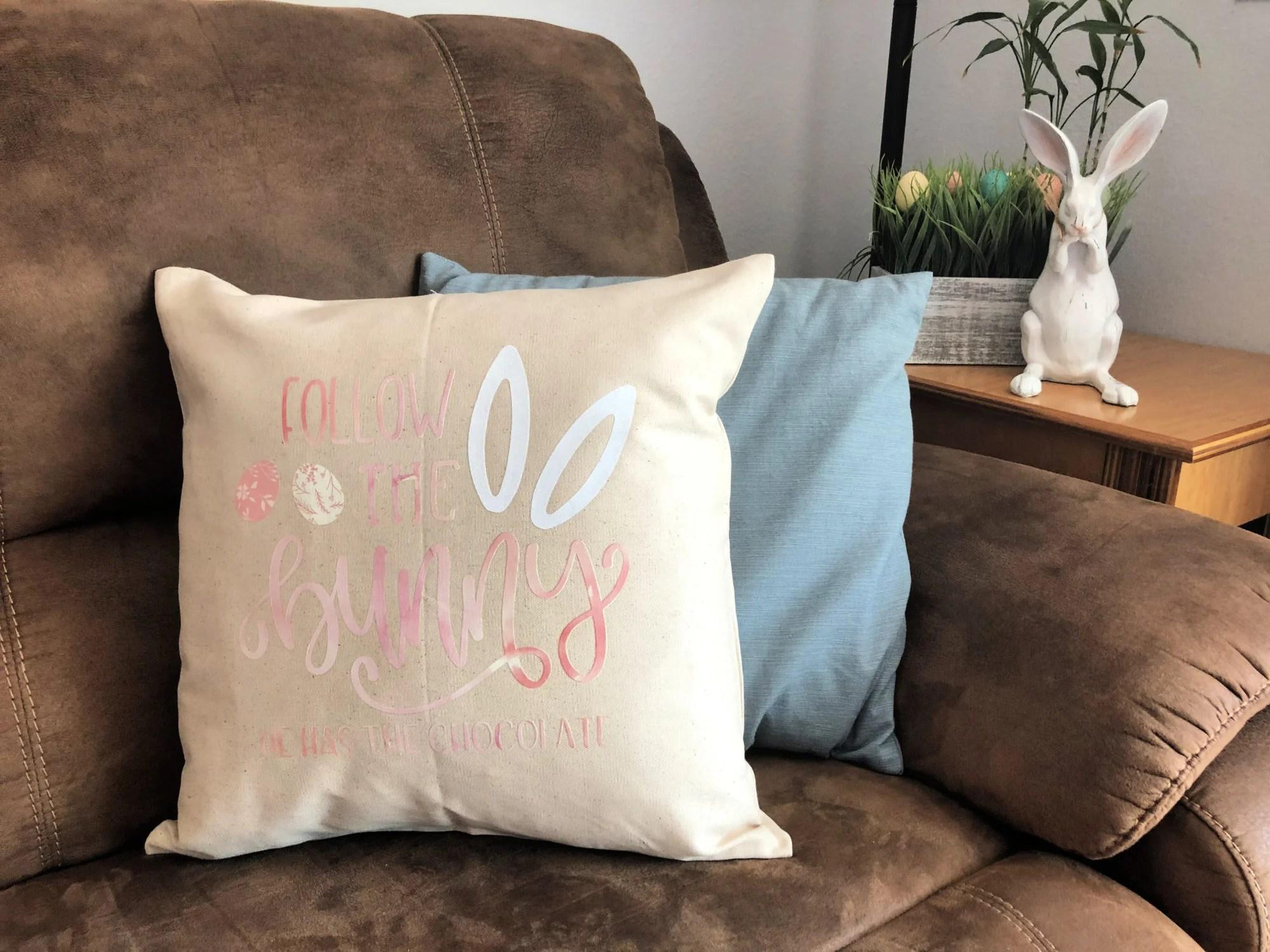 DIY Follow the Bunny Pillow