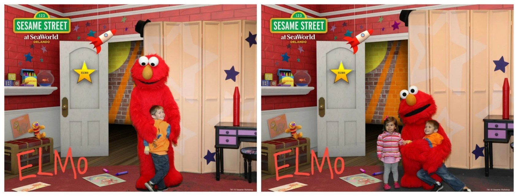 SESAME STREET AT SEAWORLD ORLANDO - Elmo Photos