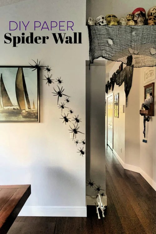 DIY Paper Spider Wall