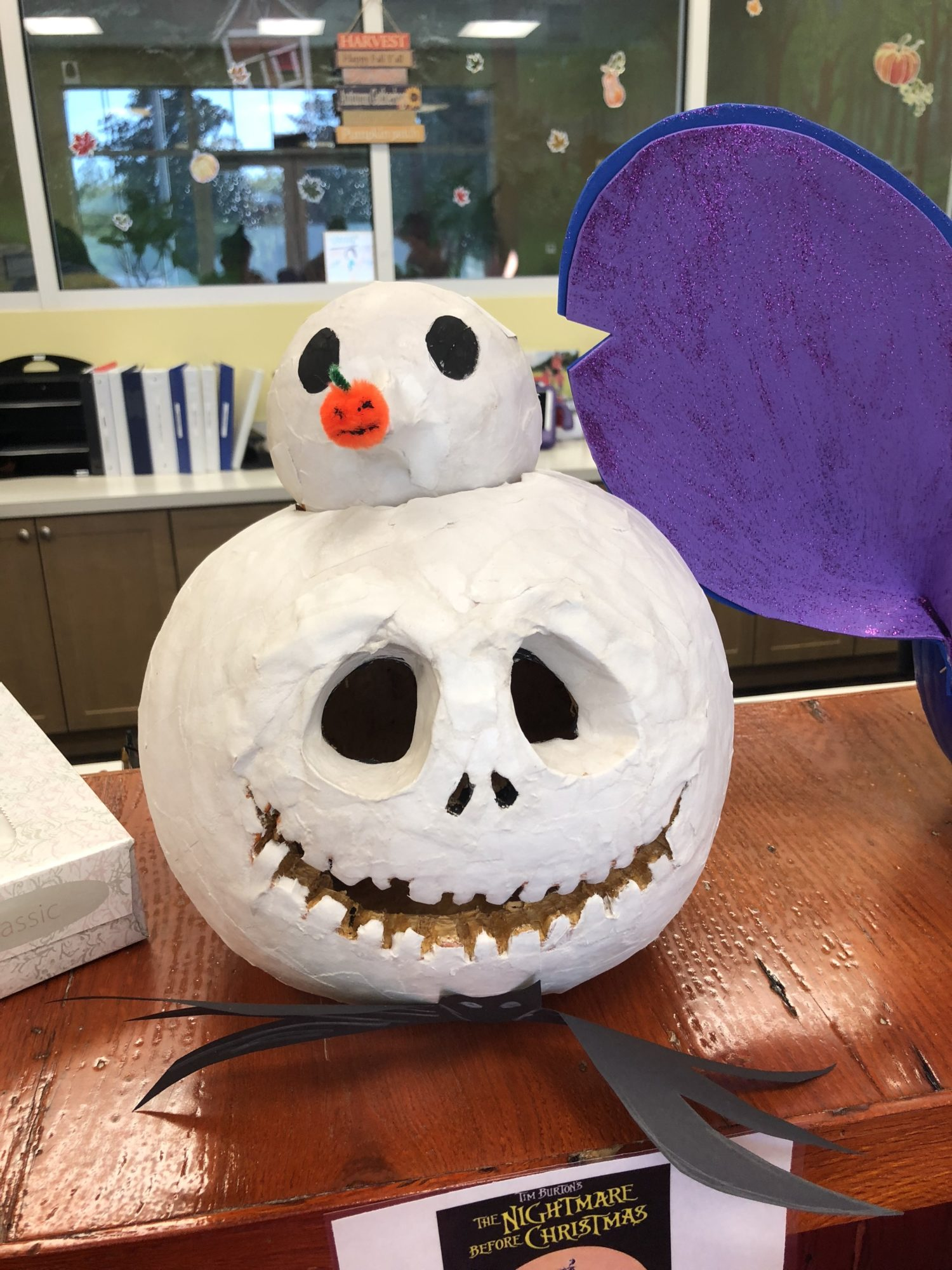 Jack Skellington No Carve Pumpkin