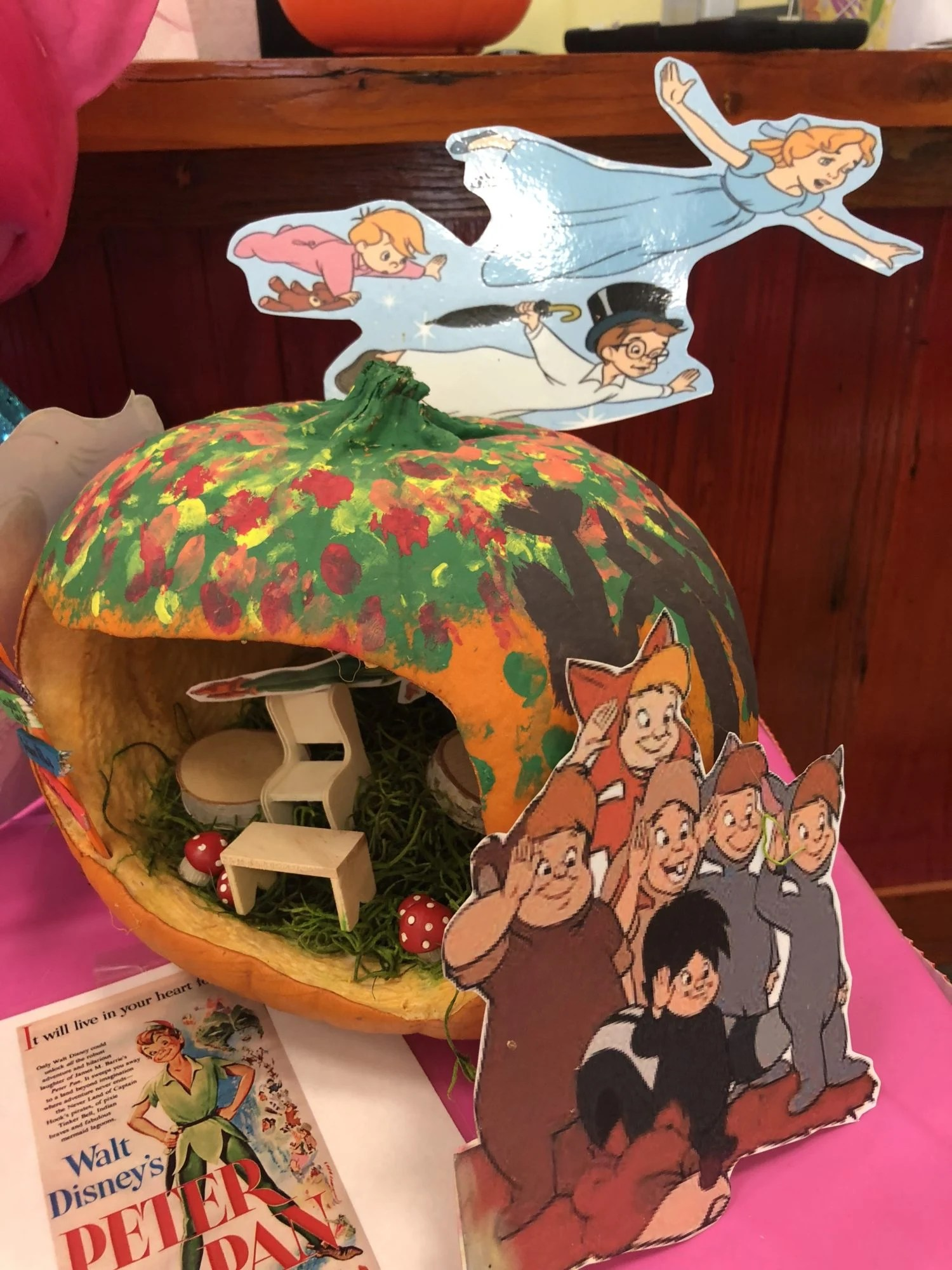 Peter Pan No Carve Pumpkin