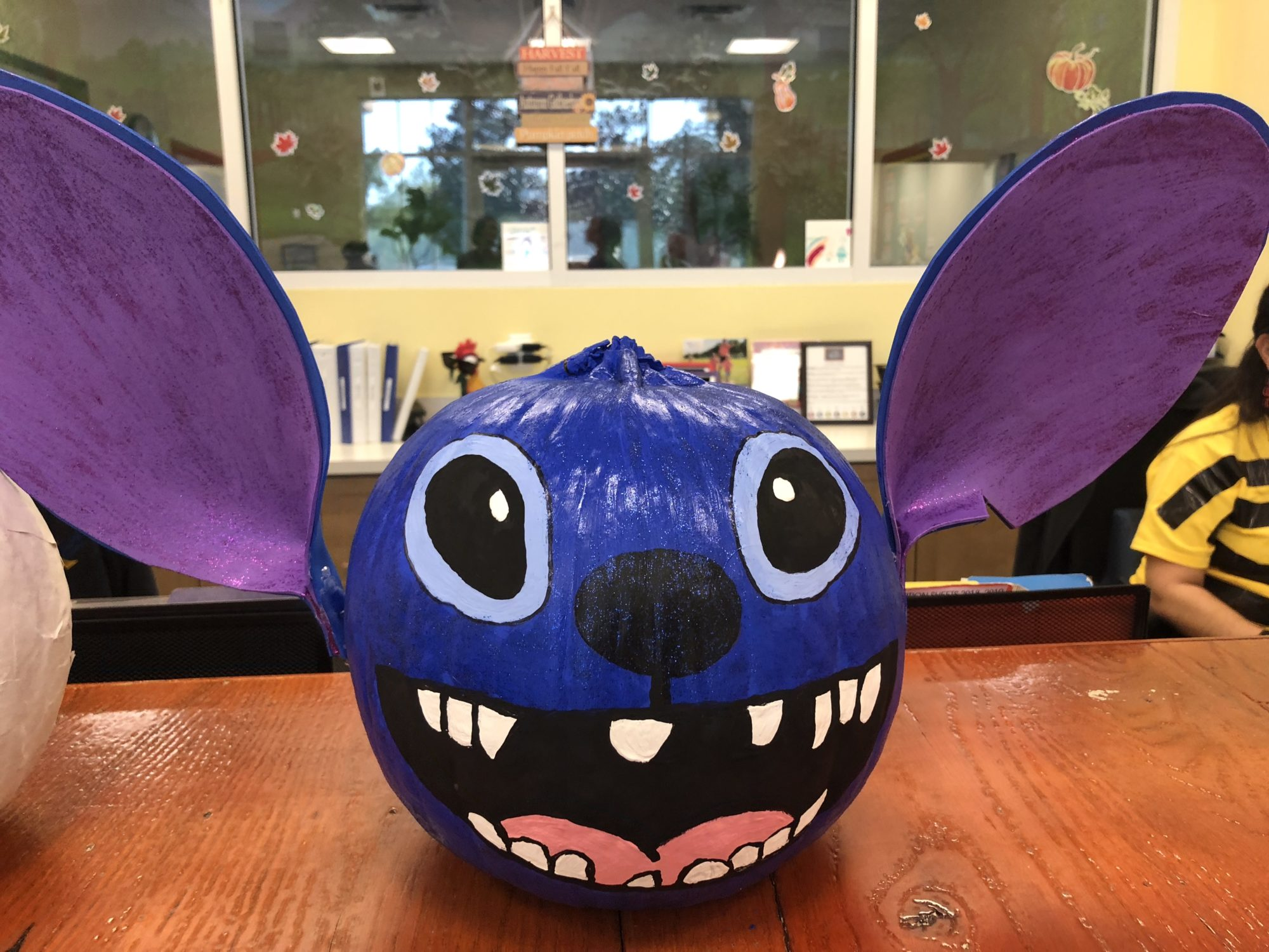 Stitch from Lilo & Stitch No Carve Pumpkin