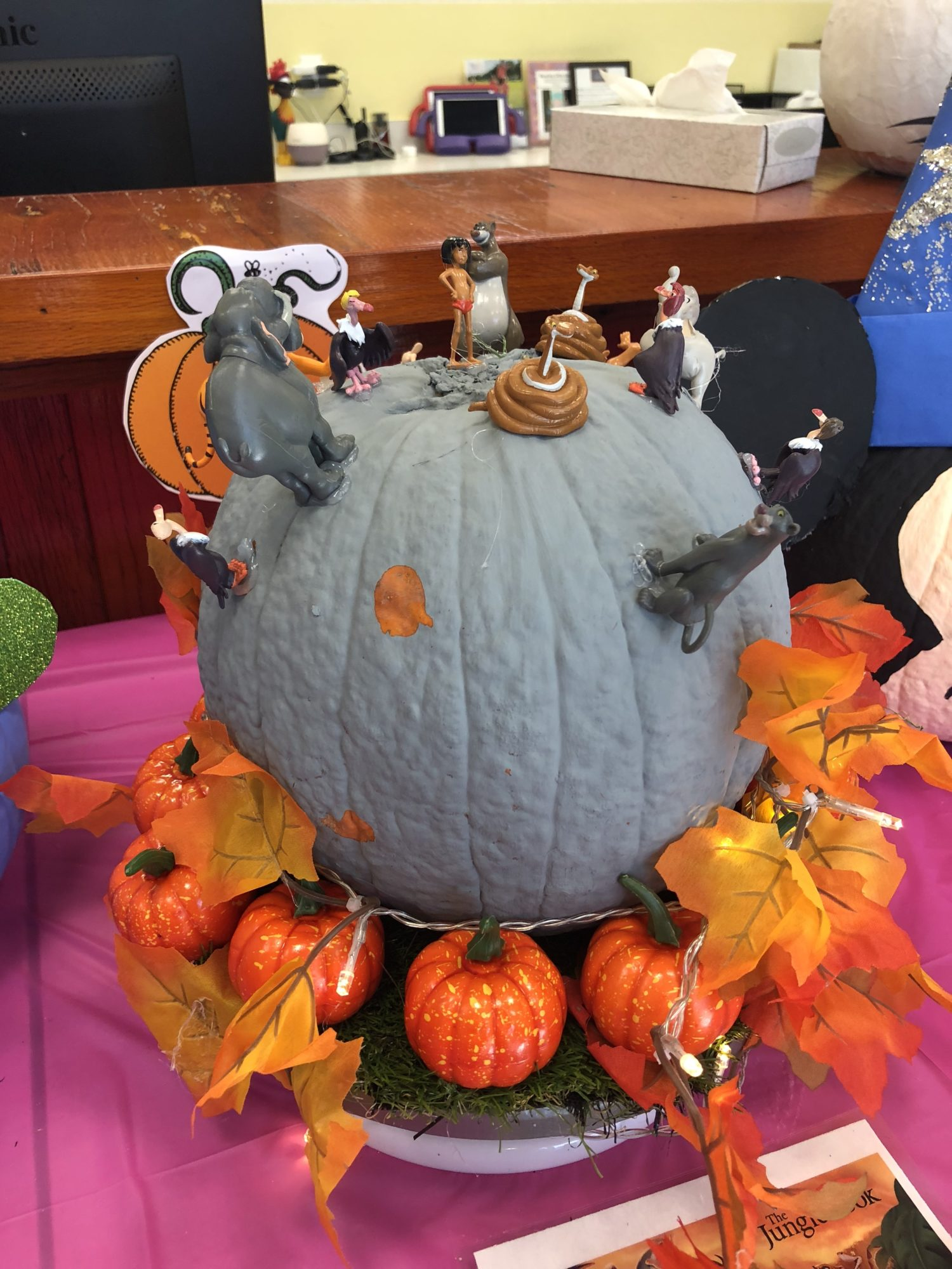 The Jungle Book No Carve Pumpkin