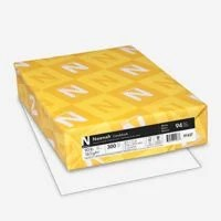 Neenah Cardstock, 8.5x 11;, Heavy-Weight, White, 94 Brightness, 300 Sheets