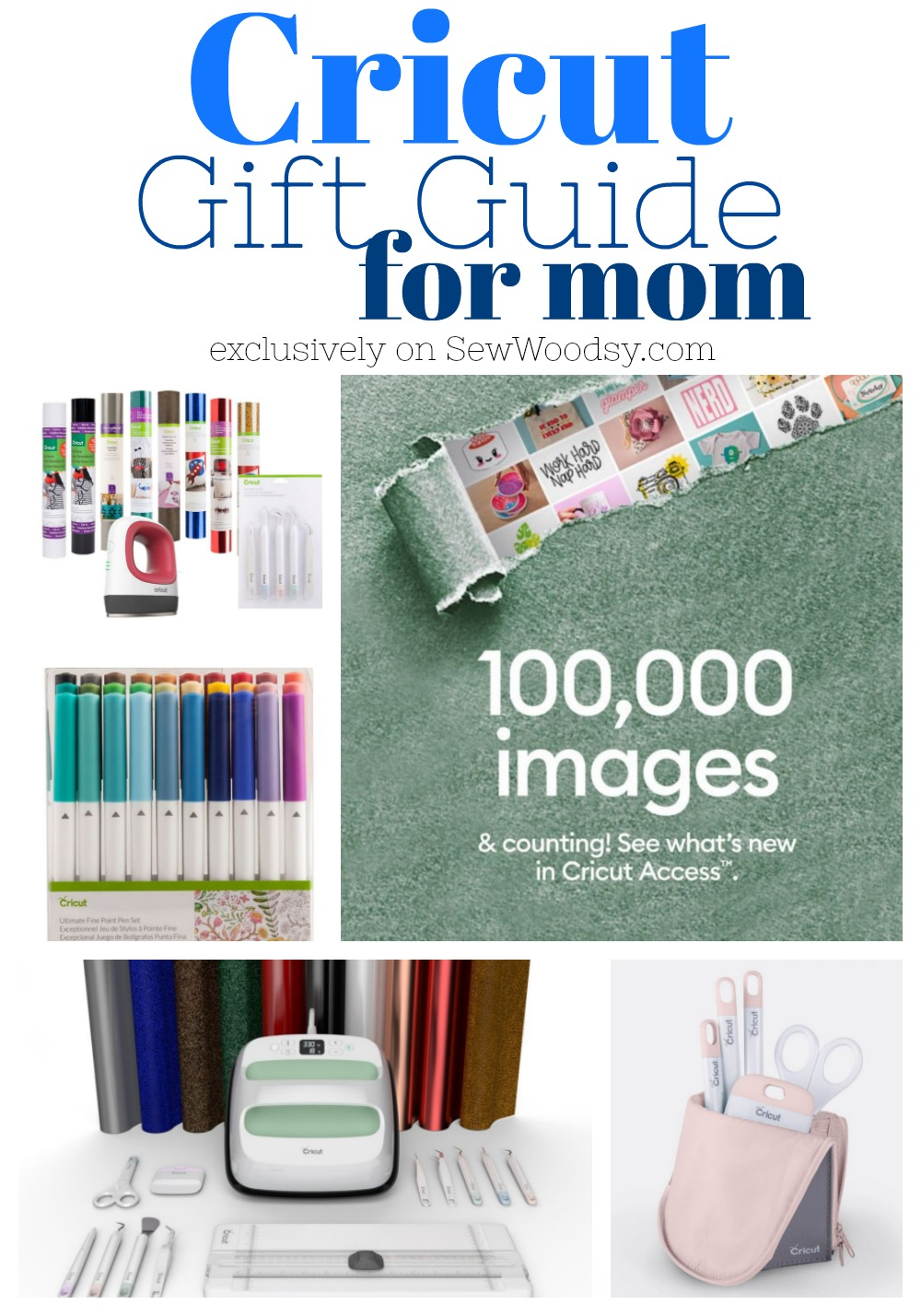 Collage of Cricut products with text on image.