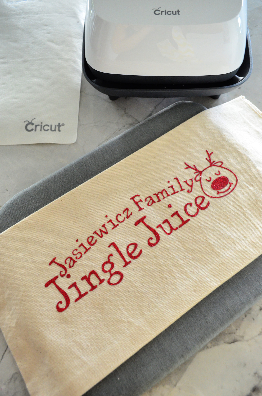 DIY Personalized Jingle Juice Wine Bag Project