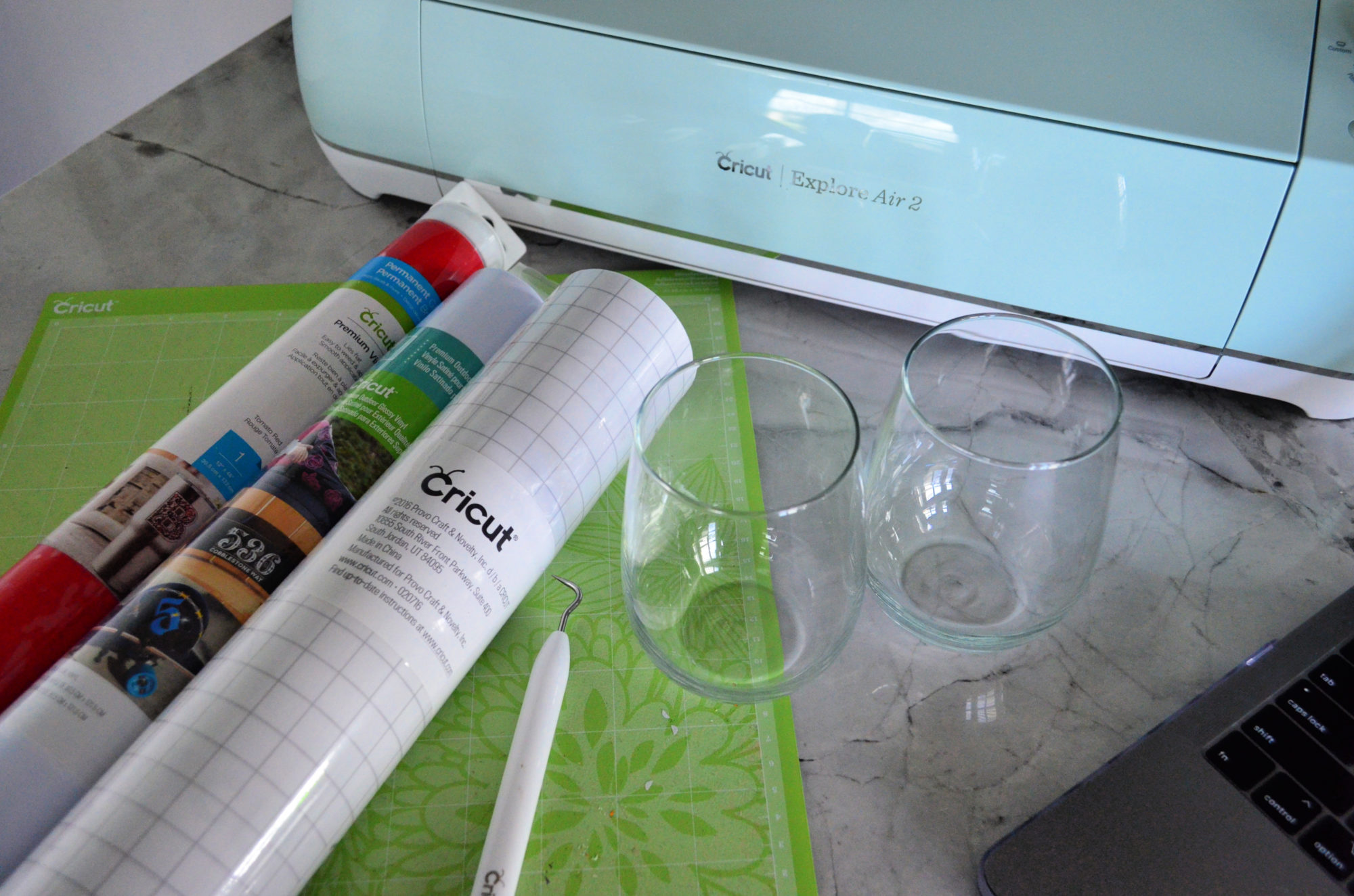 DIY Personalized Jingle Juice Wine Glass Supplies
