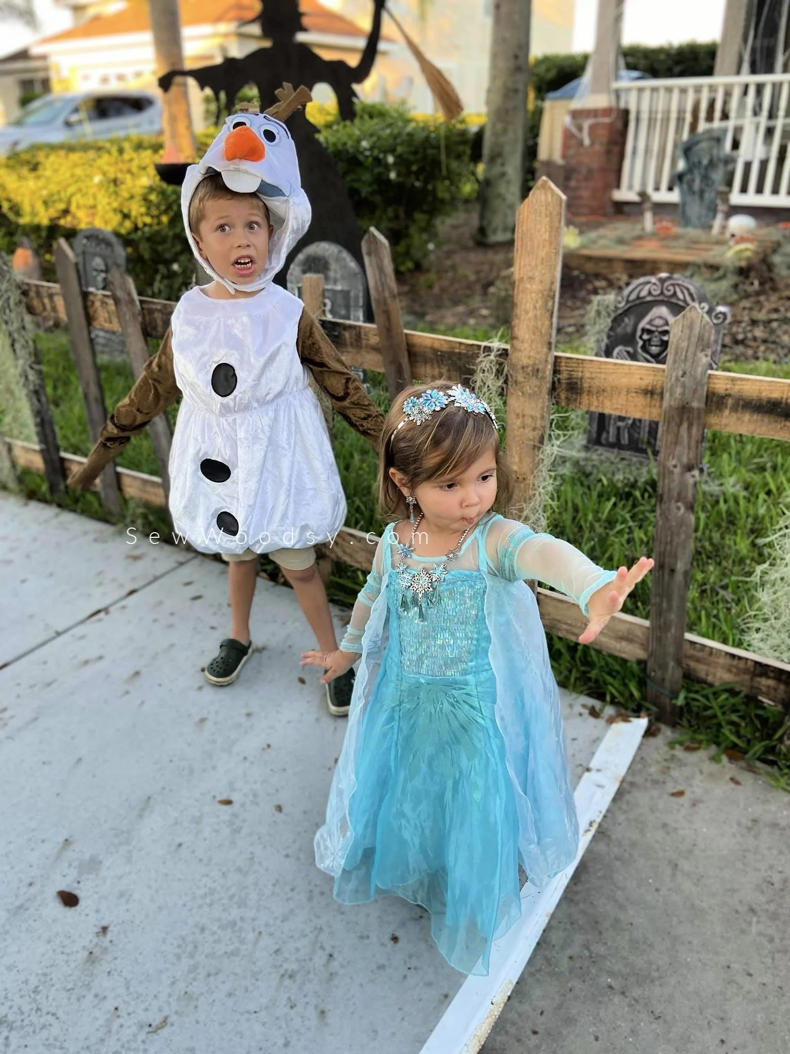 Elsa and Olaf Kids Costumes