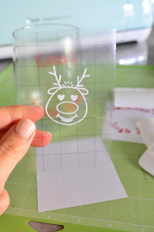 Reindeer Emoji on Vinyl