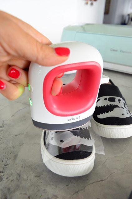 Cricut EasyPress Mini Pressing Canvas Shoes