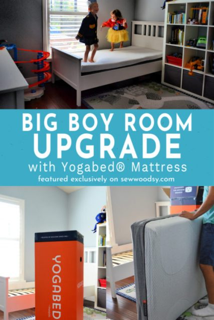 Is it time to upgrade your toddleBig Boy Room Upgrade with Yogabed® Mattress