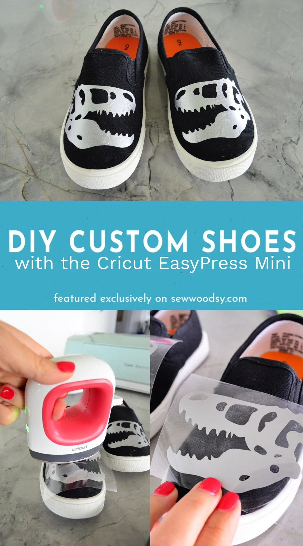 DIY Custom Shoes with the Cricut EasyPress Mini