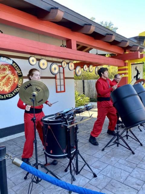 Earth Beats playing drums at NINJAGO Days.