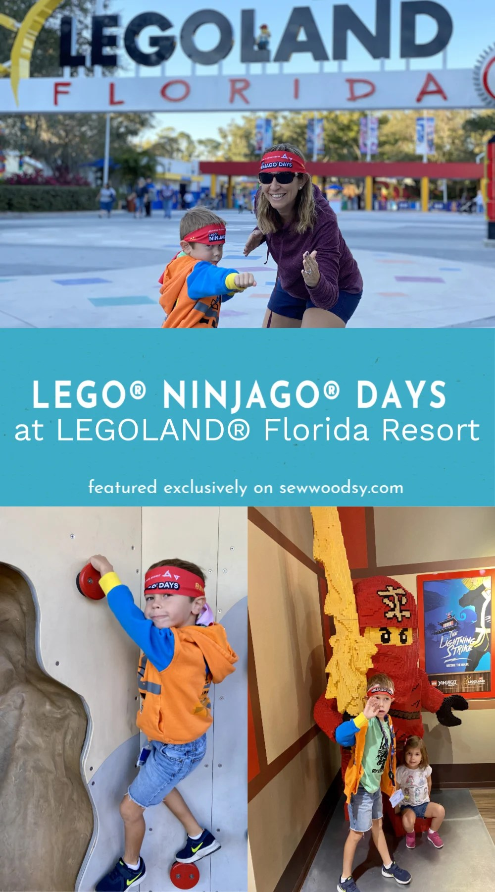 Collage of family fun activities during LEGO® NINJAGO® Days at LEGOLAND® Florida Resort