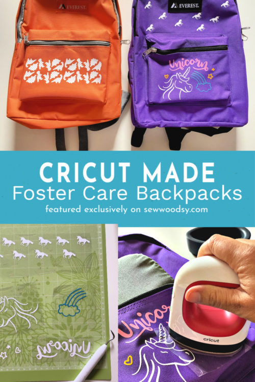 Cricut Foster Care Backpacks