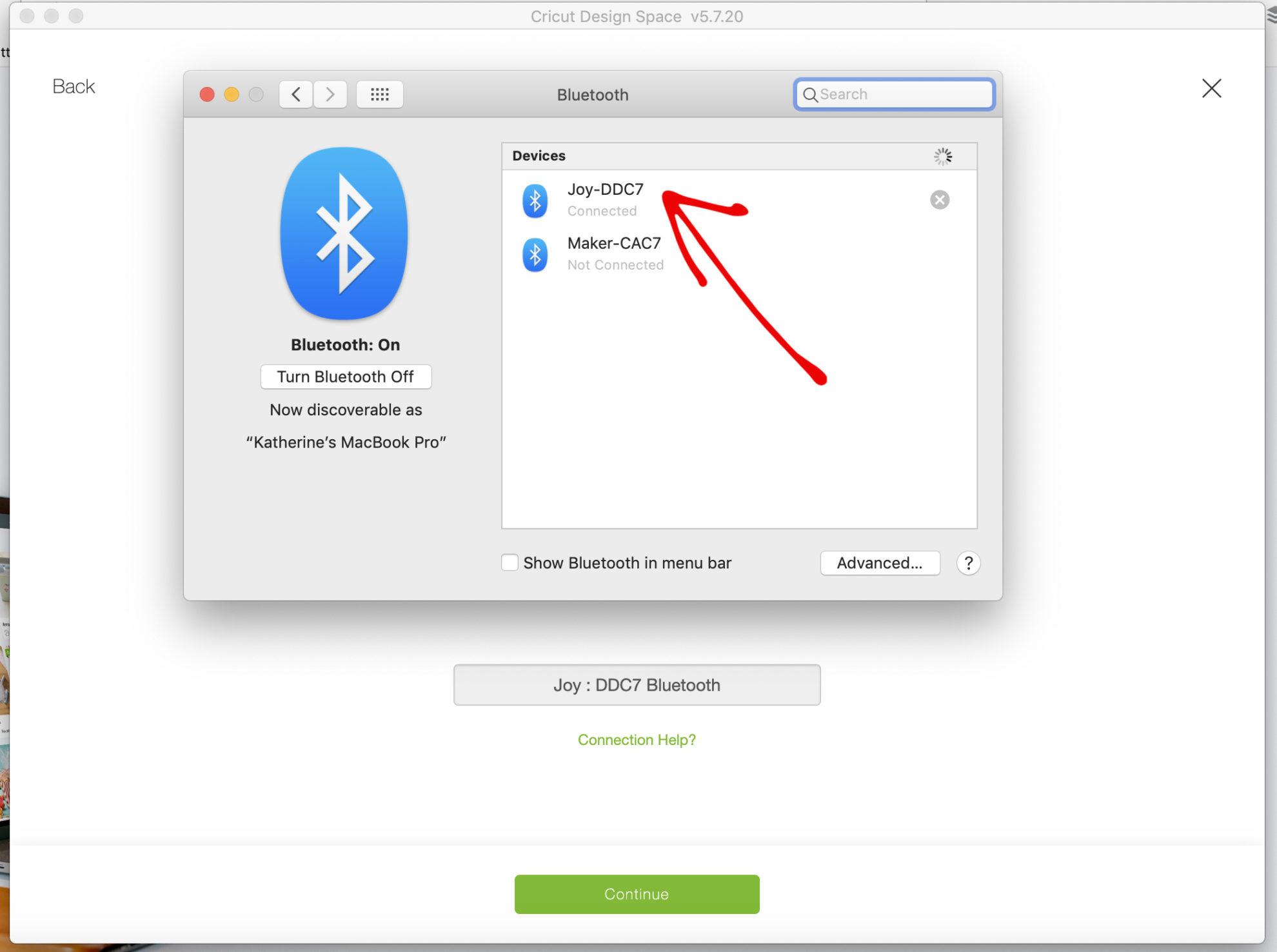 Bluetooth setup on a Mac