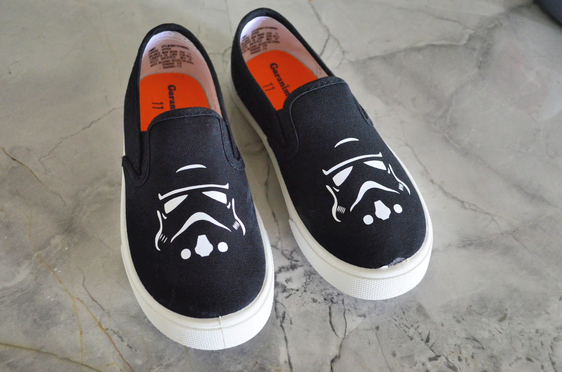 DIY Star Wars Stormtrooper Kids Shoes