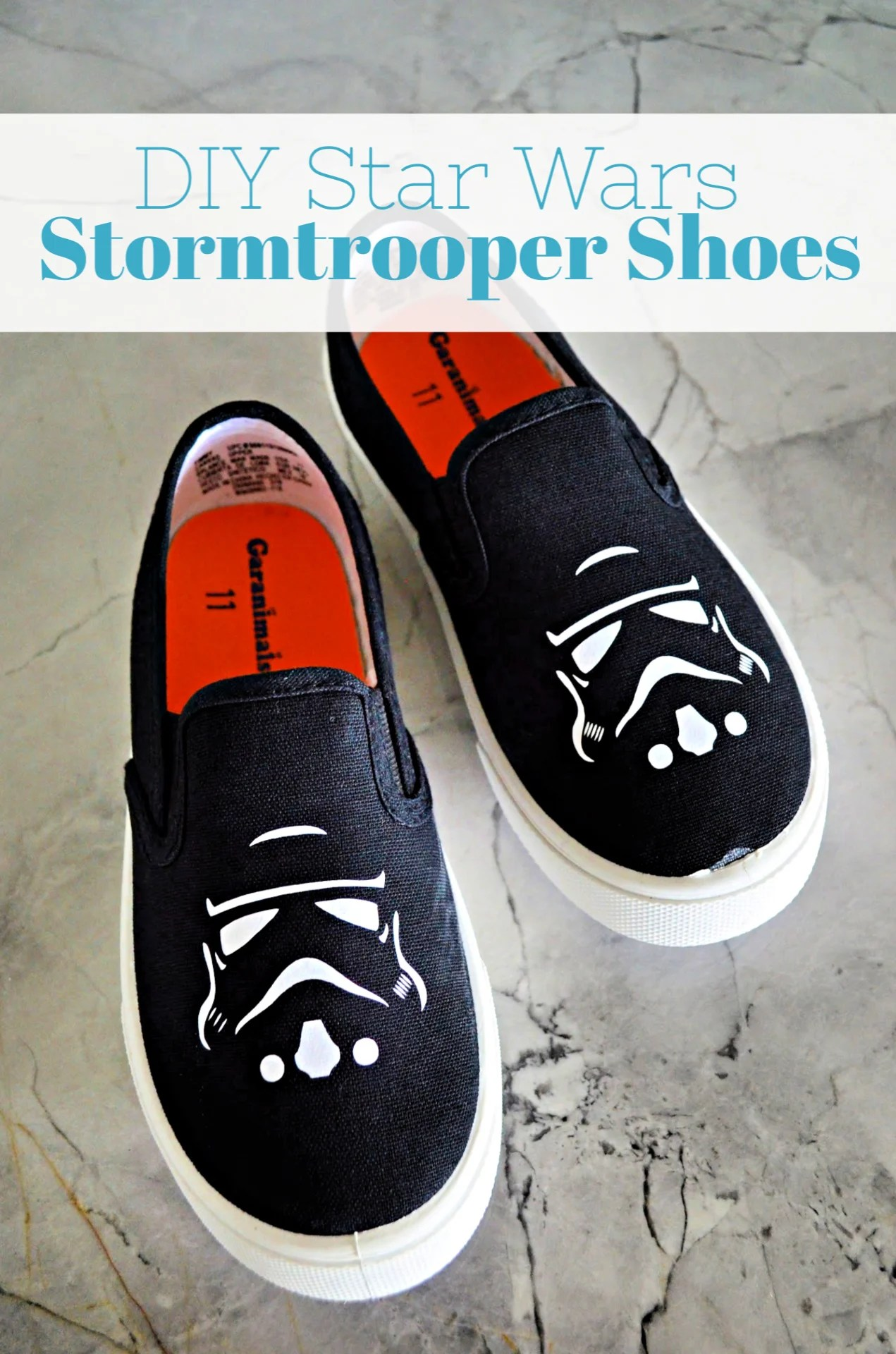 DIY Star Wars Stormtrooper Shoes