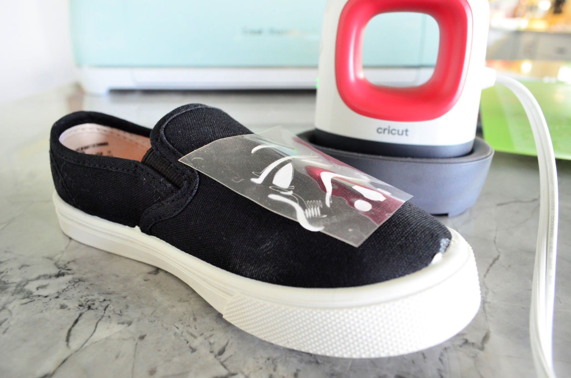 DIY Stormtrooper Shoes with Cricut Iron On Vinyl