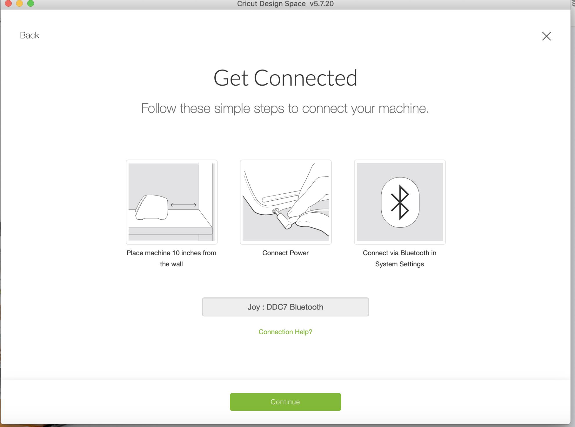 Get connected screenshot