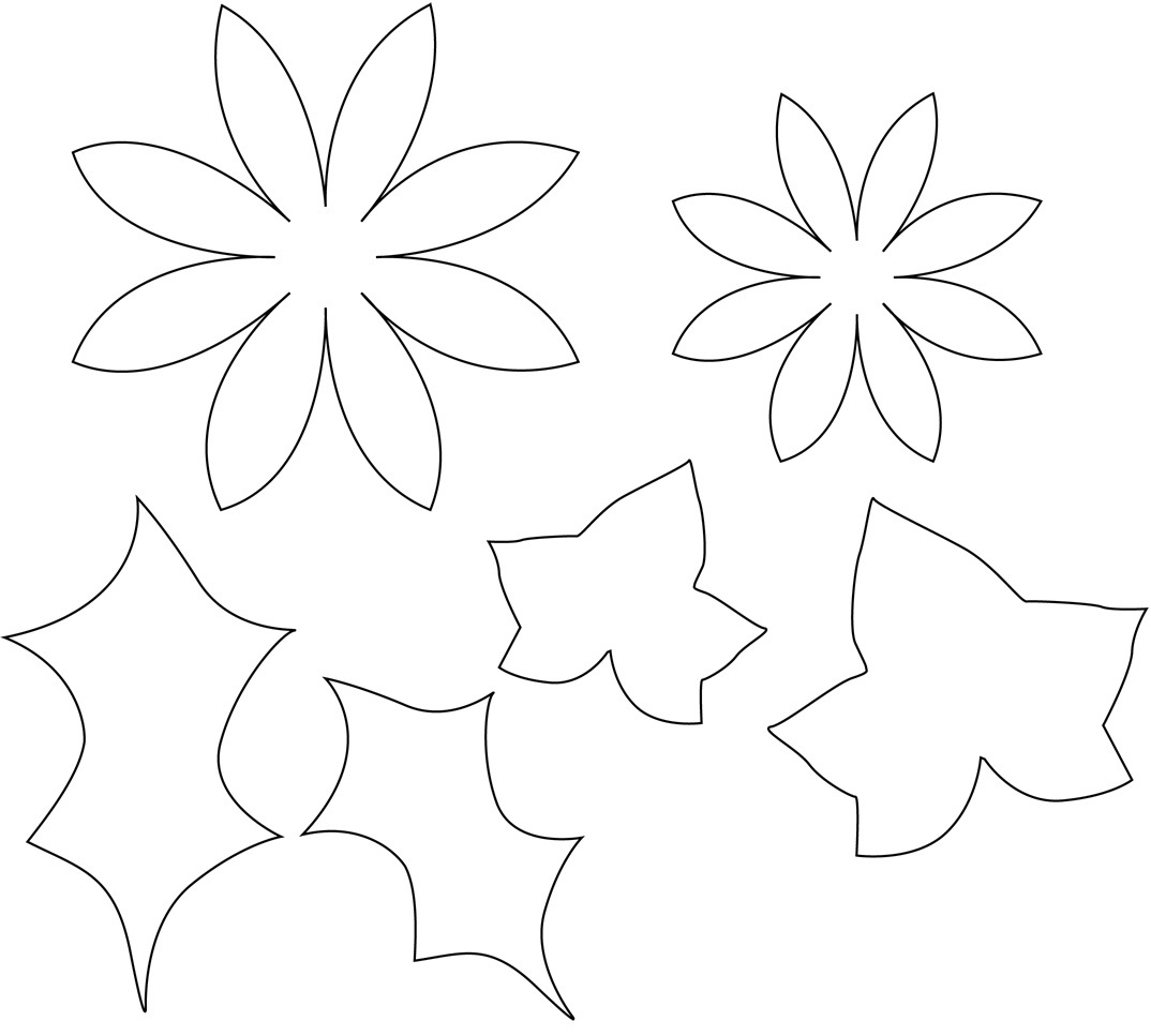 flower patterns to colour smaller flowers and leaves can
