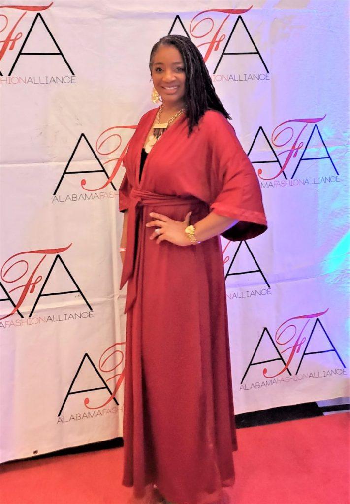 V9253 Red Caftan Tie Front Dress www.sewzaizay.com